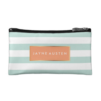 PixDezines DIY color adjustable stripes Makeup Bag