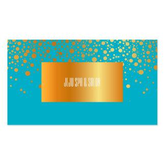 PixDezines DIY color/dazzled faux gold specks Business Card Template