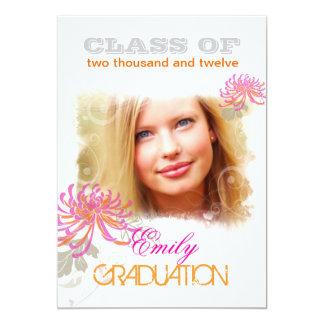 "PixDezines/diy color/mums+swirls 2012 graduation 5"" X 7"" Invitation Card"