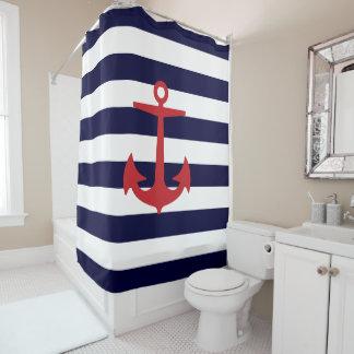 PixDezines DIY color Nautical Stripes/Red Anchor