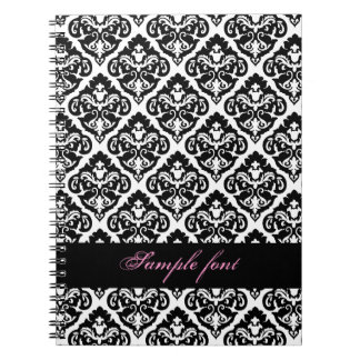 PixDezines diy color, olivia damask Note Book