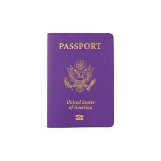 PixDezines DIY color passport covers/lavender blue Passport Holder