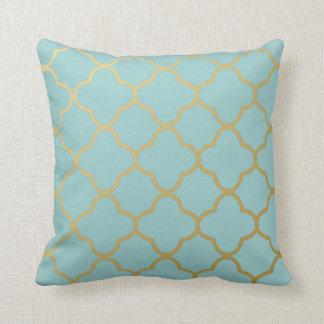 PixDezines DIY color/quartrefoil trellis Throw Pillow