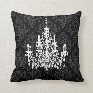 PixDezines diy colors/chandelier+josehpine damask Throw Pillow