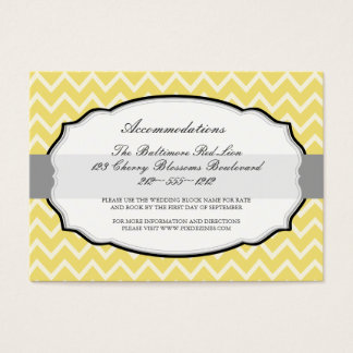 PixDezines diy colors/chevron/accommodations Business Card