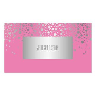 PixDezines DIYcolors/dazzled faux silver specks Business Card Template