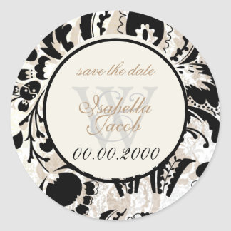 PixDezines dolcé damask diy color Classic Round Sticker