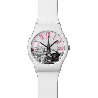 PixDezines eiffel tower/paris/roman numeros watch
