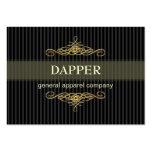 PixDezines elegant pin stripes+scrolls/diy colour Business Card Template