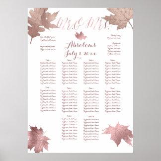 PixDezines Fall Foliage/Faux RosGold/Seating Chart