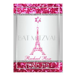 PixDezines faux glitter eifflel/Bat Mitzvah Card
