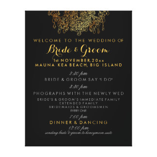 PixDezines faux gold chandelier wedding program Canvas Print