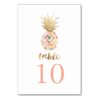 PixDezines Faux Gold Pineapples/Table Cards Table Cards