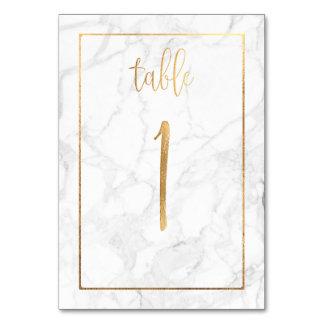 PixDezines Faux Gold/Table No 1+/Marble Card