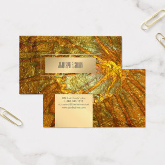 PixDezines Faux Metallic Gold Texture Business Card