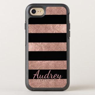 PixDezines Faux Rose Gold Foil/DIY background OtterBox Symmetry iPhone 8/7 Case