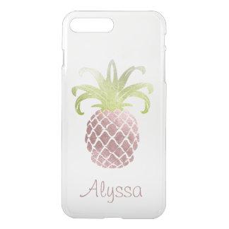 PixDezines Faux Rose Gold Pineapple/DIY background iPhone 8 Plus/7 Plus Case