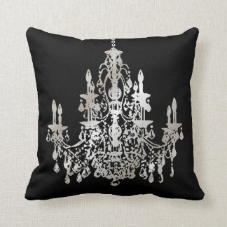 PixDezines faux silver/chandeliers/DIY background Throw Pillow