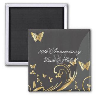 PixDezines filigree swirls+butterflies/diy fonts Square Magnet