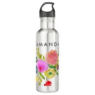 PixDezines Floral/Watercolor/Ranunculus 710 Ml Water Bottle