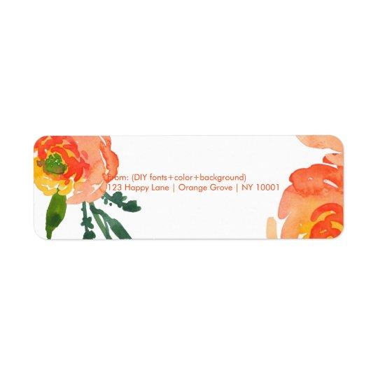 PixDezines floral watercolor/ranunculus/DIY Return Address Label