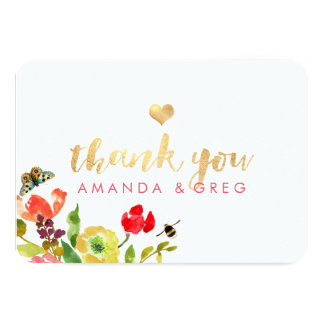 PixDezines Floral Watercolor/Ranunculus/Thank You Card