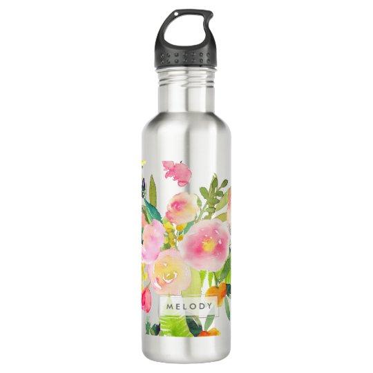 PixDezines Floral Watercolor/Spring Bouquet 710 Ml Water Bottle