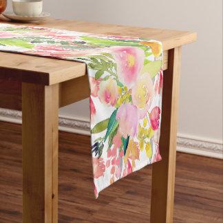 PixDezines Floral/Watercolor/Spring Bouquet Short Table Runner