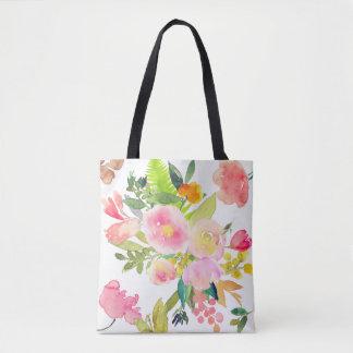 PixDezines Floral/Watercolor/Spring Bouquet Tote Bag