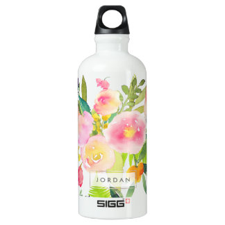 PixDezines Floral Watercolor/Spring Bouquet Water Bottle
