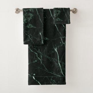 PixDezines FOREST GREEN MARBLE Bath Towel Set