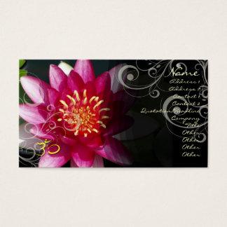 PixDezines Fuschia lotus + pearly swirls Business Card