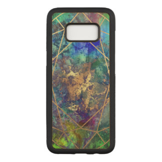 PixDezines Galaxy+Gemstone Facets Carved Samsung Galaxy S8 Case