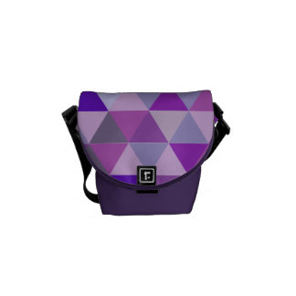 PixDezines geometric/adjustable pattern Courier Bags