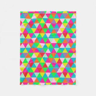 PixDezines geometric/neon colors/ Fleece Blanket
