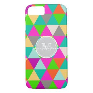 PixDezines geometric/neon colors iPhone 7 Case