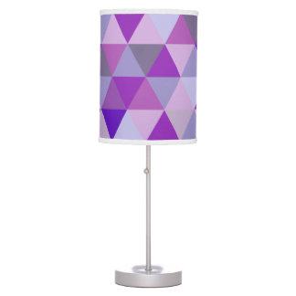 PixDezines geometric pattern/purple Table Lamps