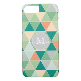 PixDezines geometric/sea glass and coral iPhone 7 Case