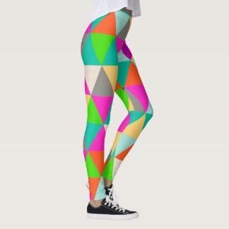 PixDezines Geometric/Triangles/Neon Colors Leggings