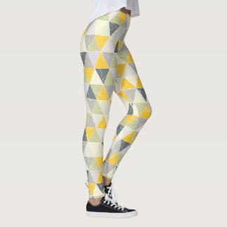 PixDezines Geometric/Yellow/Grey Leggings