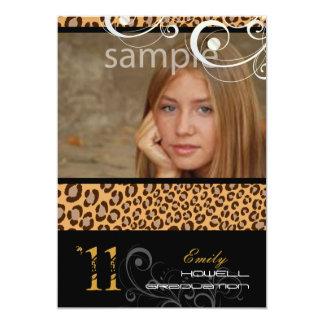 PixDezines Graduation, Leopard Print Card