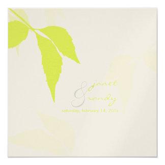PixDezines green foliage/diy background color Card