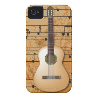 PixDezines Guitar+Vintage Sheet Music iPhone 4 Covers