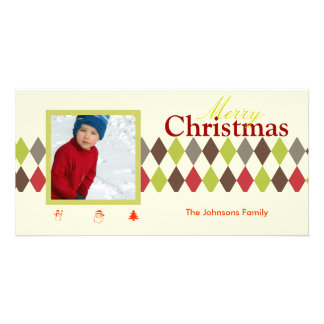 PixDezines Harlequin, Christmas Customized Photo Card