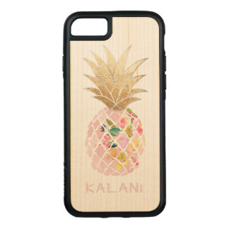 PixDezines Hawaii Aloha Pineapples/DIY background Carved iPhone 8/7 Case
