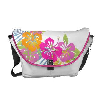 PixDezines hibiscus leis/diy background color Messenger Bag