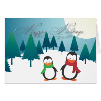 PixDezines Holiday Cards, penguins Card