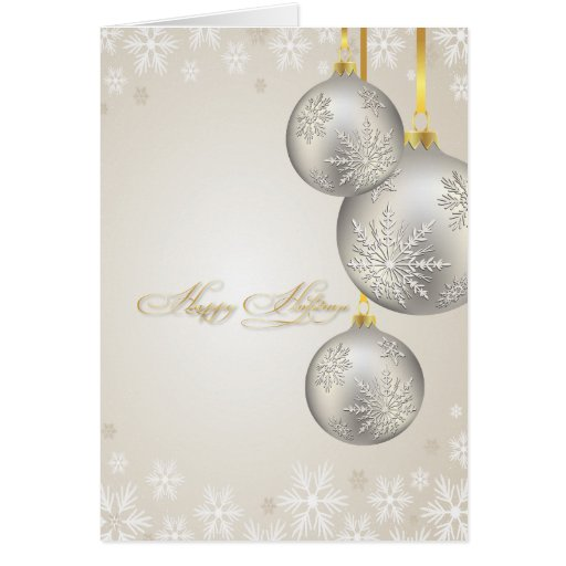 PixDezines Holiday Cards, silver ornaments