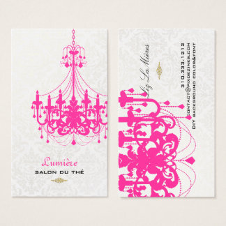 PixDezines hot pink chandelier/DIY color Business Card