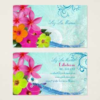 PixDezines hula waves Business Card